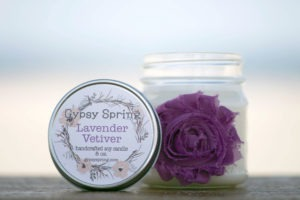 Lavender Vetiver Scented Soy Candle