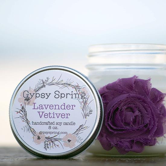 Lavender Vetiver Soy Candle